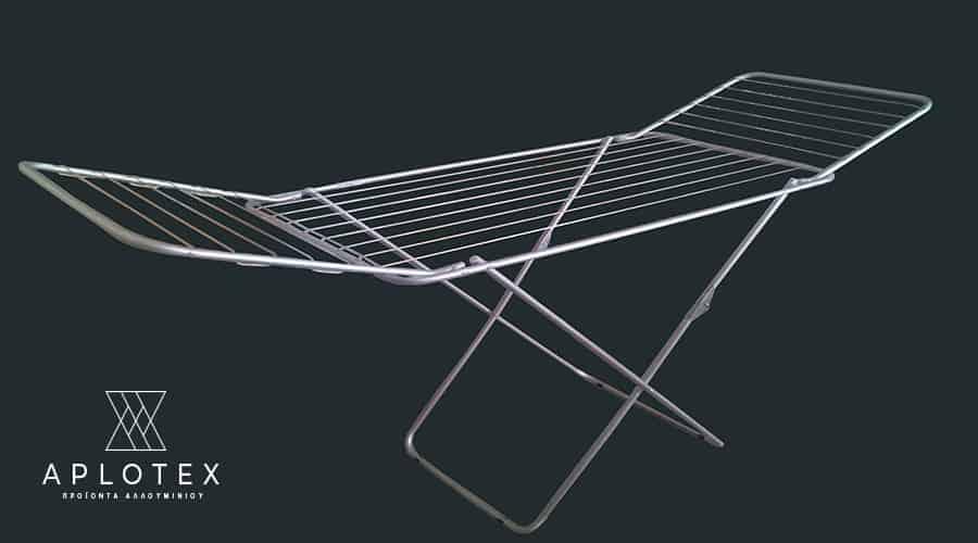 Απλώστρα δαπέδου με φτερά ανοιχτή-σύρμα