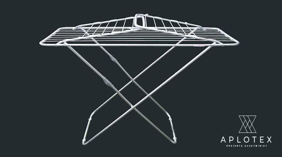 Απλώστρα δαπέδου με φτερά κλειστή-σχοινί