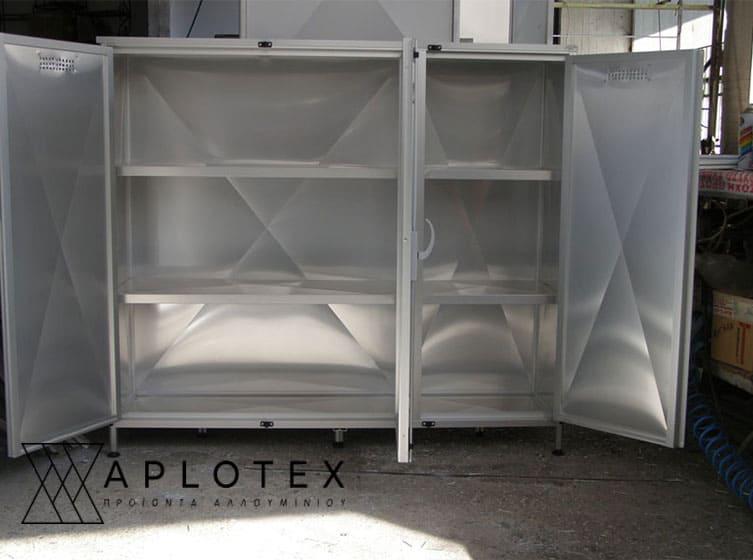 ντουλάπα αλουμινίου χαμηλή 3 ράφια